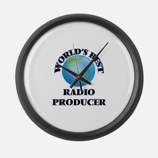 World's Best Radio Producer Large Wall Clock