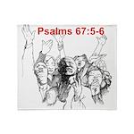 Psalms 67:5-6 Plush Fleece Throw Blanket