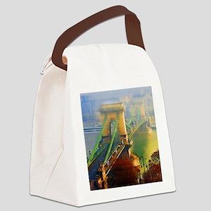 Bridge Over the Danube Canvas Lunch Bag