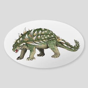 Ankylosaurus Sticker (Oval)