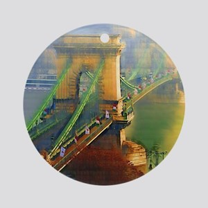 Bridge Over the Danube Ornament (Round)