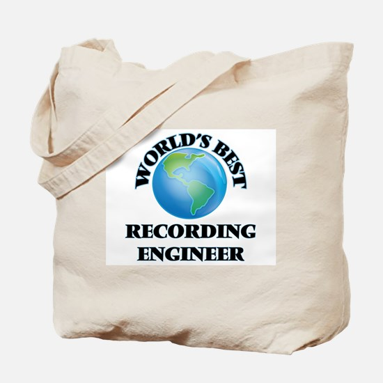 World's Best Recording Engineer Tote Bag