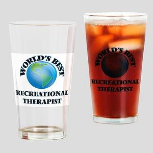 World's Best Recreational Therapist Drinking Glass