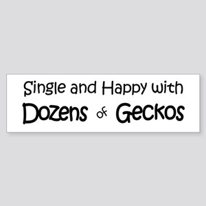 Single & Happy With Geckos Bumper Sticker