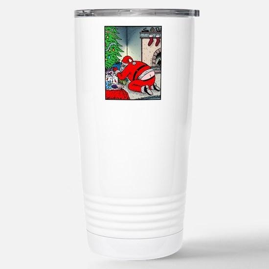 Santa's Butt crack Stainless Steel Travel Mug