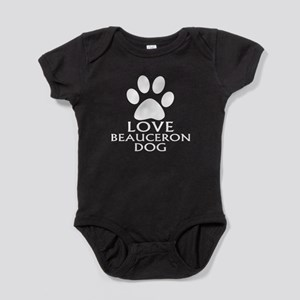 Love Beauceron Dog Baby Bodysuit