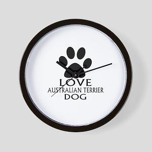 Love Australian Terrier Dog Wall Clock