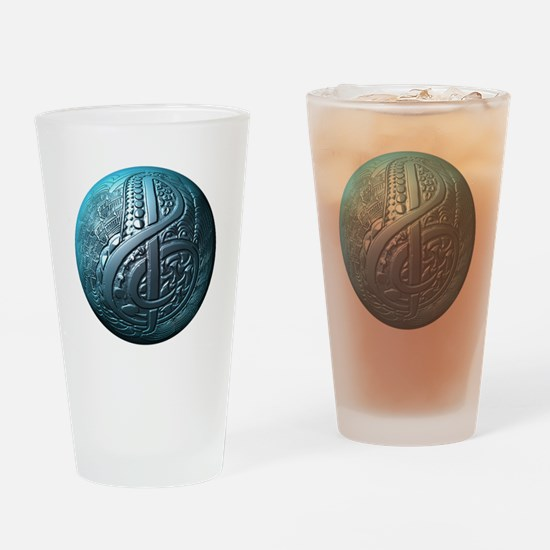 Music Makes the World Go Round Drinking Glass