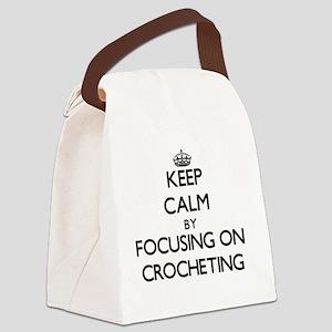 Keep Calm by focusing on Crocheti Canvas Lunch Bag