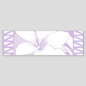 Lanai Plumeria Bumper Sticker