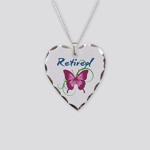 Retired (Butterfly) Necklace Heart Charm