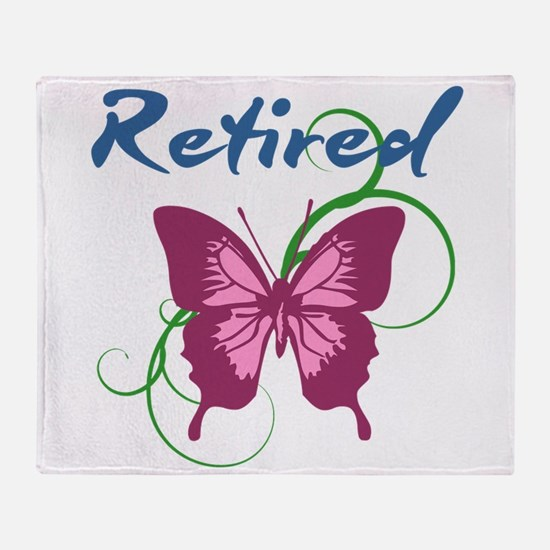 Retired (Butterfly) Throw Blanket