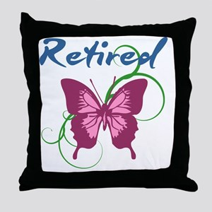 Retired (Butterfly) Throw Pillow