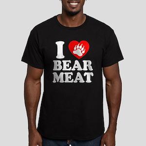 I LOVE BEAR MEAT BEAR PAW PRINT T-Shirt