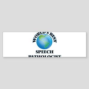 World's Best Speech Pathologist Bumper Sticker