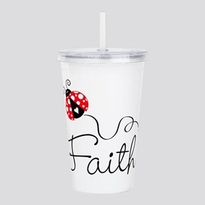 Ladybug Faith Acrylic Double-Wall Tumbler