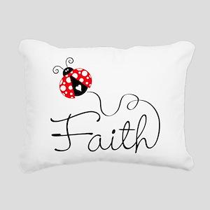 Ladybug Faith Rectangular Canvas Pillow
