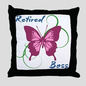 Retired Boss (Butterfly) Throw Pillow