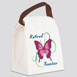 Retired Teacher (Butterfly) Canvas Lunch Bag