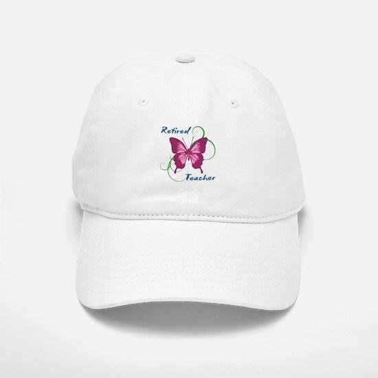 Retired Teacher (Butterfly) Baseball Baseball Cap