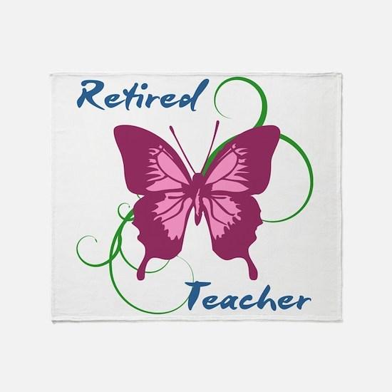 Retired Teacher (Butterfly) Throw Blanket