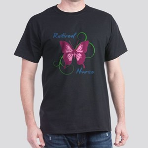 Retired Nurse (Butterfly) Dark T-Shirt