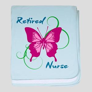 Retired Nurse (Butterfly) baby blanket