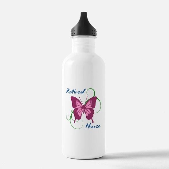 Retired Nurse (Butterf Water Bottle