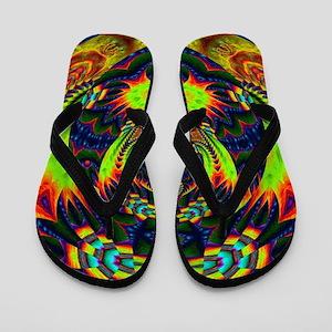 Psychedelic NeuLight n1 Flip Flops