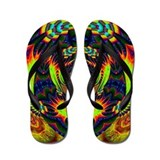 Psychedelic Flip Flops