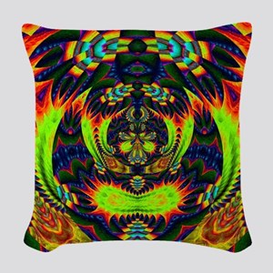 Psychedelic NeuLight n1 Woven Throw Pillow