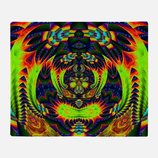 Psychedelic NeuLight n1 Throw Blanket