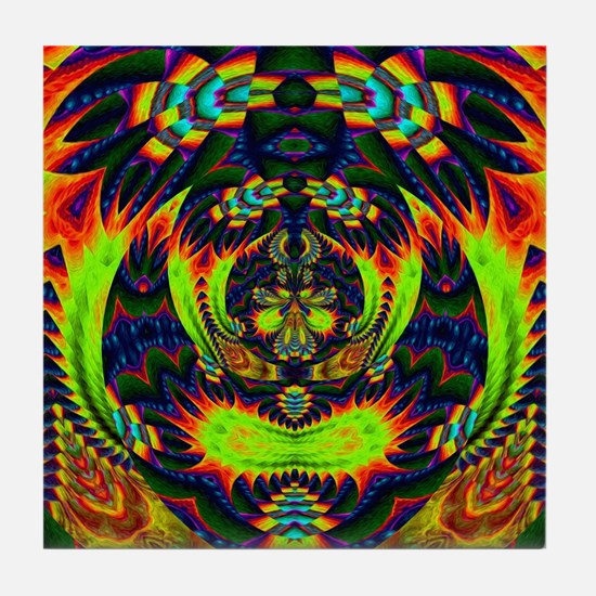 Psychedelic NeuLight n1 Tile Coaster