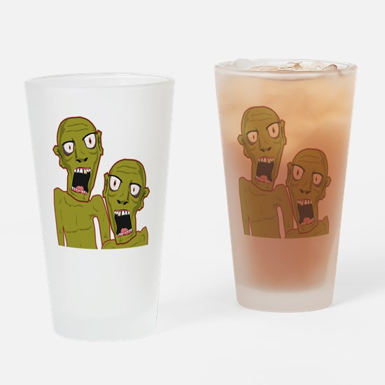 Zombie Bros Drinking Glass