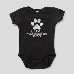 Love American Staffordshire Terrier Baby Bodysuit