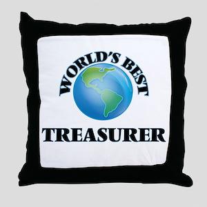 World's Best Treasurer Throw Pillow