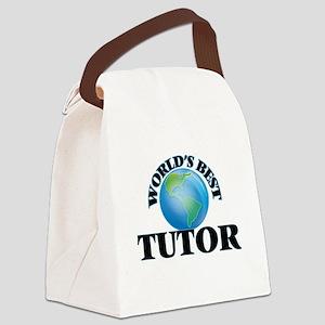 World's Best Tutor Canvas Lunch Bag