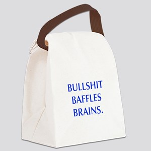 BULLSHIT BAFFLES BRAINS Canvas Lunch Bag