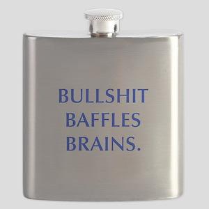 BULLSHIT BAFFLES BRAINS Flask