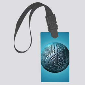 Music Makes the World Go Round Large Luggage Tag