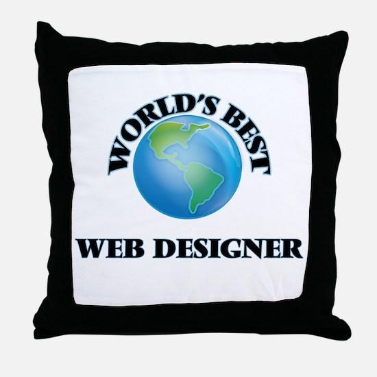 World's Best Web Designer Throw Pillow