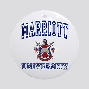 MARRIOTT University Ornament (Round)