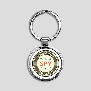 Spy Vintage Round Keychain