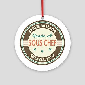 Sous Chef Vintage Ornament (Round)