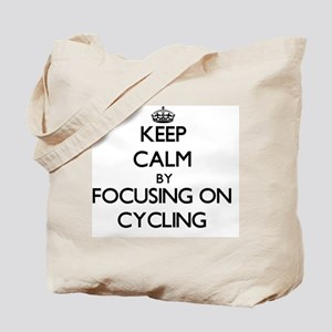 Keep Calm by focusing on Cycling Tote Bag