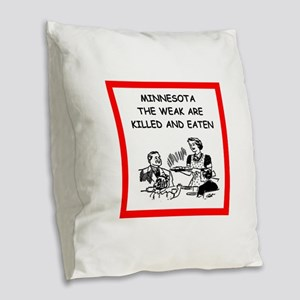 minnesota Burlap Throw Pillow