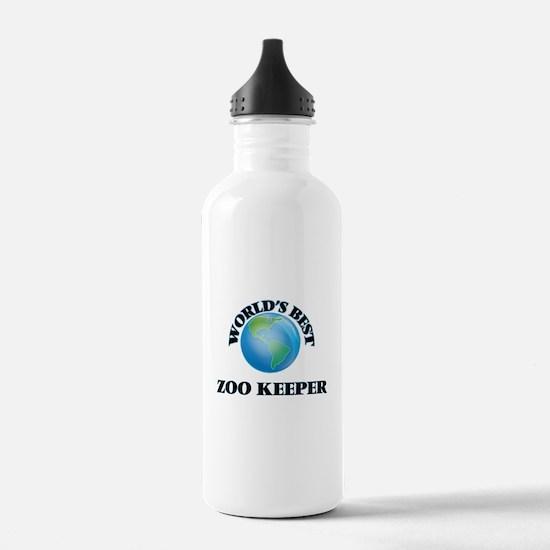 World's Best Zoo Keepe Water Bottle