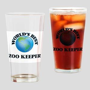 World's Best Zoo Keeper Drinking Glass