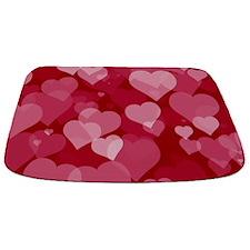 Red Valentine Hearts Bathmat