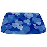 Blue Valentine Hearts Bathmat